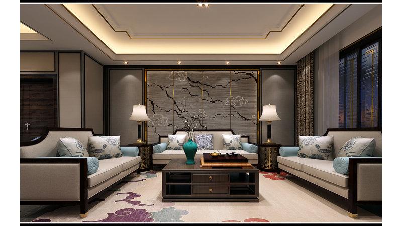15-20万120平米中式三居室装修效果图,120平 新中式图图片