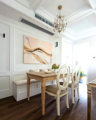130平美式公寓餐厅装潢图