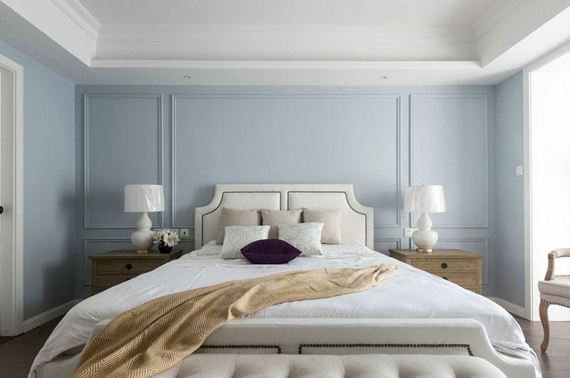 130平美式公寓床头软包设计图片