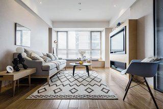 70㎡现代简约二居室装修装饰效果图