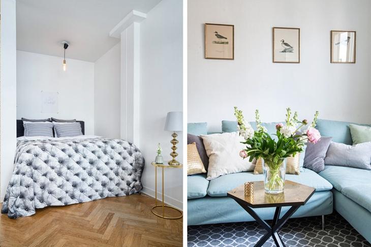 清新淡雅蓝色调  舒适北欧风格装修布艺沙发
