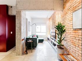 时尚简约混搭风 惬意单身公寓设计
