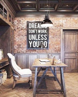 餐厅裸砖背景墙装潢装修