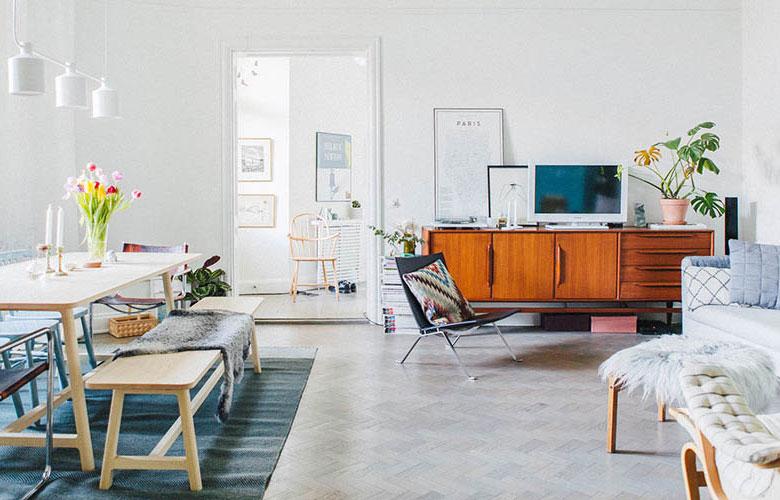北欧风格旧房改造客厅地板装修