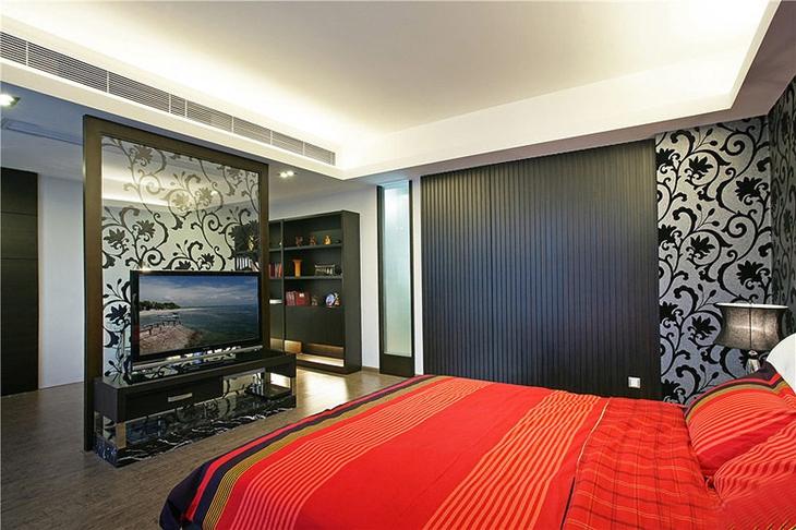 简约风格三居室装修 宜居&时尚的效果卧室效果图