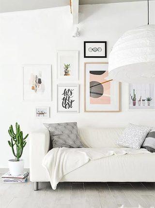 室内装饰画布置摆放图