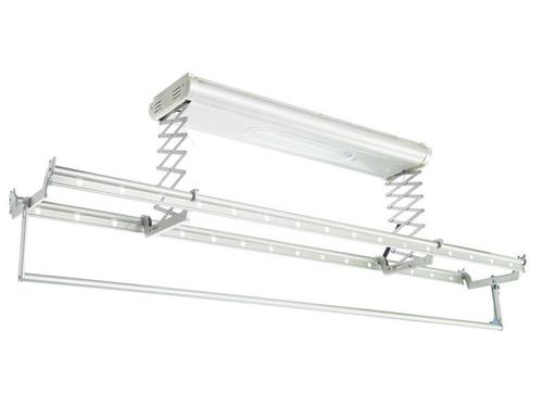 阳台伸缩晾衣架结构 1,晾杆:基本都有两条晾杆,材质目前来说大多为
