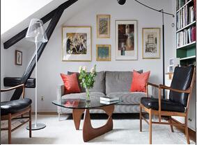 北欧风格阁楼装修效果图  简洁舒适