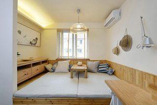 原木日式和风 榻榻米茶室效果图