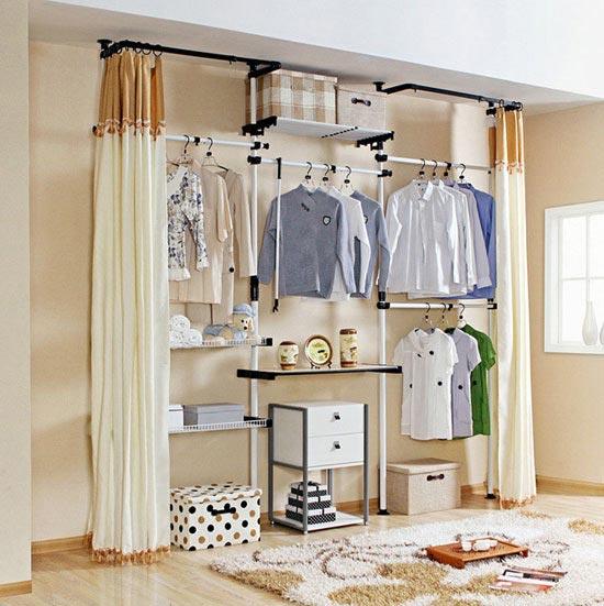 卧室衣柜收纳设计平面图