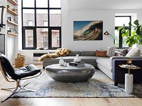 混搭风两居室公寓  顺时针审美