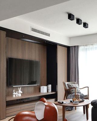 103平简约三居电视背景墙设计