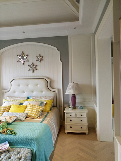 奢华地中海风格 卧室背景墙设计