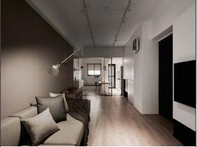 都市感超强的二居室装修 咖啡色浓郁有味道