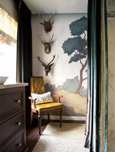 客厅手绘背景墙欣赏图片