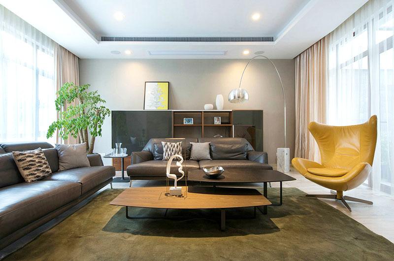 260平联排别墅客厅沙发图片