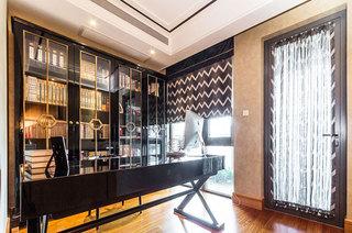 170平美式风格书房装潢设计