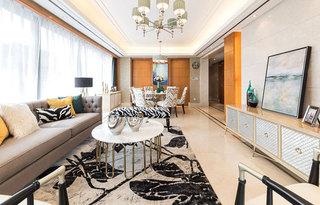 170平美式风格客厅效果图