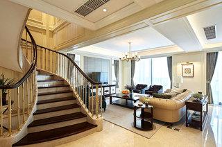 大气美式复式楼梯装修图片