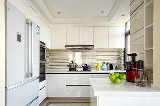 美式风格跃层装修厨房装潢设计图