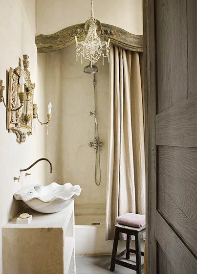 复古风浴室装修欣赏图片