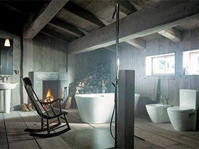 充满归属感  10个复古风浴室设计图
