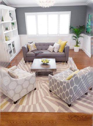 客厅沙发布置设计平面图