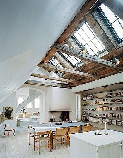阁楼天窗布置装修图片