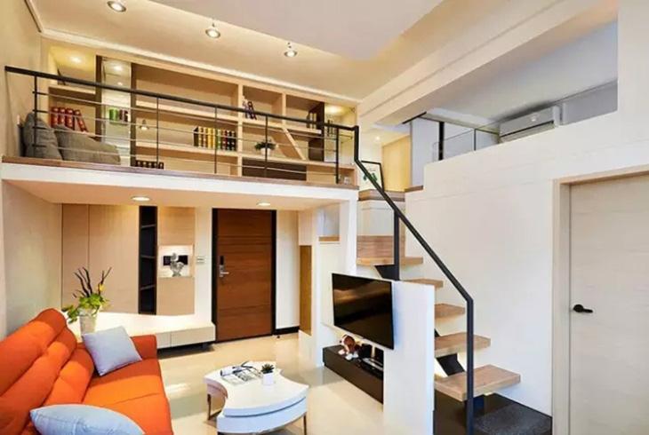 48平loft装修电视背景墙设计