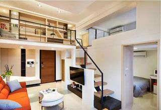 48平loft装修楼梯效果图