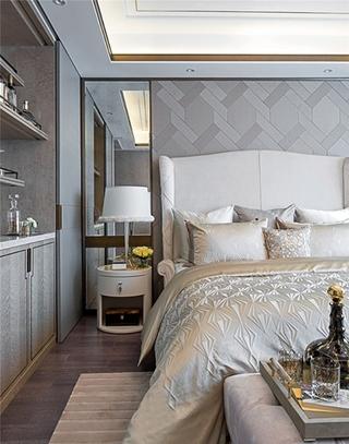 豪华型大户型装修卧室壁纸图片