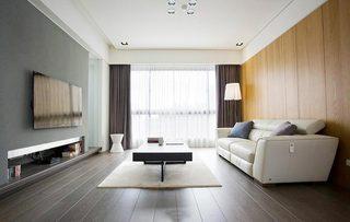 100㎡现代二居室装修装饰效果图