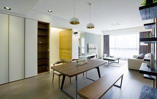100㎡现代二居室整体效果图