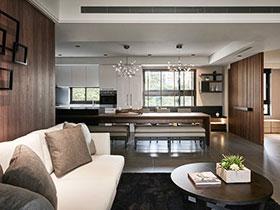 98平简中式公寓 自然环保森系设计