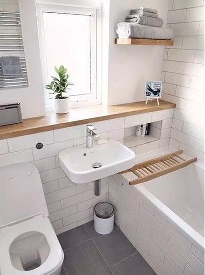 简约小户型卫生间设计参考图