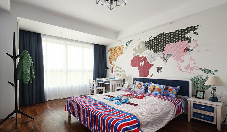 简约风格装修儿童房设计壁纸图片