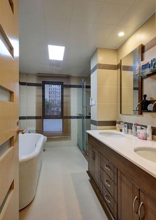 简约风格公寓装修卫生间装修图