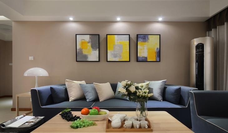 时尚风格装修沙发背景墙