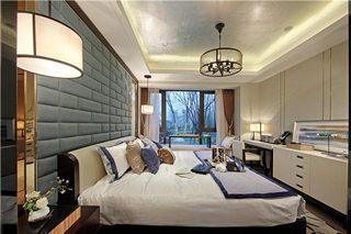 130㎡新中式三居卧室参考图