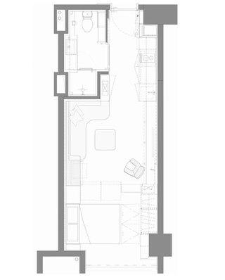 35平一居室平面布置图
