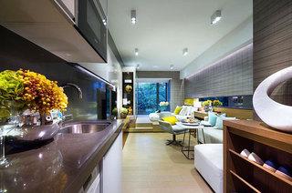 时尚都市现代风 开放式一居室效果图