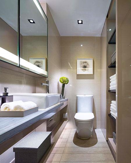35平一居室卫浴间装修图