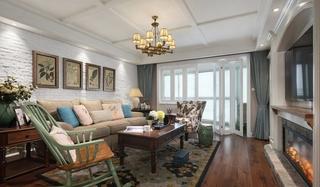 小户型也温馨 超好看美式风格装修美式客厅效果图
