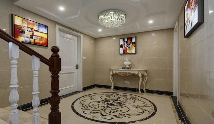 时尚现代欧式别墅门厅过道设计