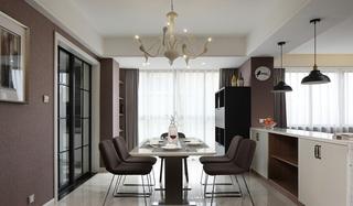简约风格三居室装修餐厅装潢设计