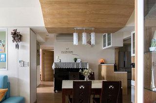 80平北欧三居餐厅装修图