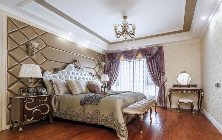 简欧风格公寓装修主卧室设计