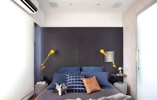 质朴混搭风主卧室 黑色背景墙设计