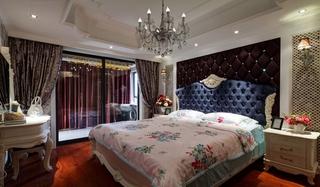 欧式风格三居室装修床头软包图片