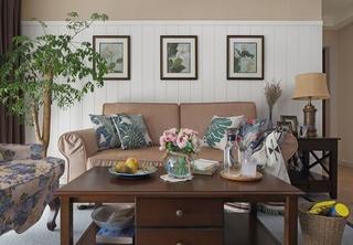 美式风格三居室设计客厅效果图
